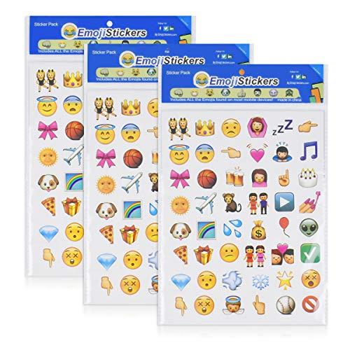 Hello-Union Emoji Stickers 576 Cute Funny Stickers Glückliche Gesichter Scrapbooking Trendy Geschenke für Kinder Erwachsene