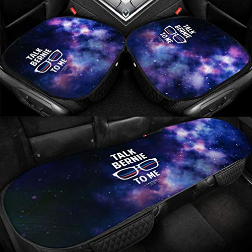 XUKE Talk-Bernie-To-Me-2020_Grande Car Ice Seat Cushion 3 Pieces Ice Silk Car Seat Cover Cushion Breathable and Comfortable Non-Slip