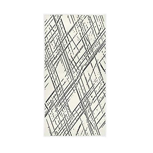 TropicalLife XIXIKO - Toalla de mano con rayas geométricas suaves multiusos para baño, hotel, gimnasio, spa, 30 x 15 pulgadas