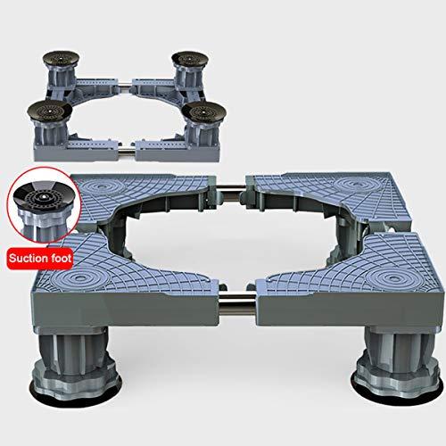 Mfnyp Wasmachine voetstuk basis, wasmachine kast, 4 verstelbare steunpoten, voor droger, wasmachine en koelkast