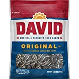 DAVID SEEDS Roasted and Salted Original Sunflower Seeds, Keto Friendly, 5.25 oz, 12 Pack