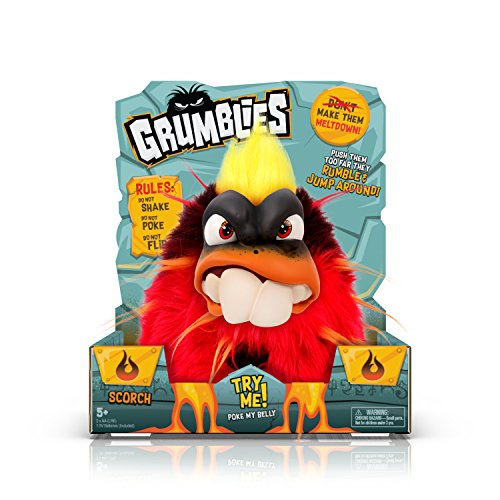 Grumblies Scorch Plush Interactive Pet (Red) From Pomsies, One Size