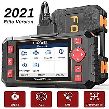 FOXWELL Car Scanner NT604 Elite OBD2 Scanner ABS SRS Transmission Check Engine Code Reader,Diagnostic Scan Tool with SRS Airbag Scanner,Car Diagnostic Scanner for Cars
