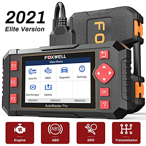 FOXWELL Car Scanner NT604 Elite OBD2 Scanner ABS SRS Transmission, Check Engine Code Reader,Diagnostic Scan Tool with SRS Airbag Scanner,Car Diagnostic Scanner for Cars