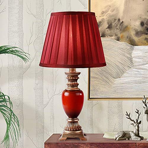 Dekorative Tischlampe Rot Hochzeit Tischlampe Wohnzimmer Schlafzimmer Nachttischlampe Modernen Minimalistischen Hochzeitszimmer Geschenk Kreative Mode Dekorative Tischlampe (rot) Dekorative Tischlampe