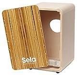 Sela CaSela Snare Cajon Bausatz Zebrano SE 004 - Edelfurnier Spielfläche, herausnehmbare Snare