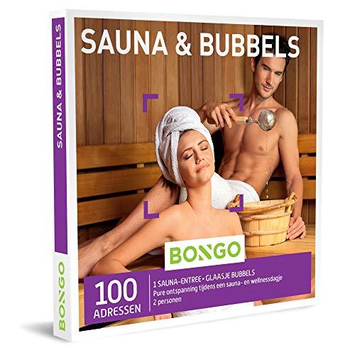 Bongo Bon - Sauna & Bubbels | Cadeaubonnen Cadeaukaart cadeau voor man of vrouw | 100 gezellige sauna's