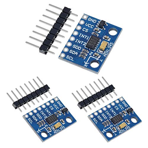 ANMBEST 3PCS GY-291 ADXL345 3-Axis Digital Acceleration of Gravity Tilt Module with IIC SPI Transmission for Arduino