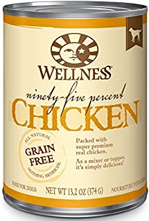 Wellness 95% Chicken Grain-Free Canned Dog Food, 13.2 Ounces, Pack of 12