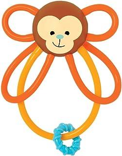 Manhattan Toy Winkel 猴子摇铃和感官牙胶 0 months to 36 months 猴子图案