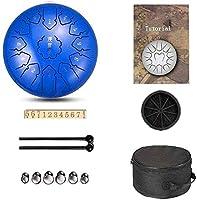 ヨガ瞑想 スチール舌ドラム手舌ドラム12インチ13ノート、個人的な瞑想のヨガのためのプレミアムメタルチャクラタンクドラムを持つ鋼鉄パーカッション楽器 音楽教育コンサートマインドヒーリング (Color : BLUE)