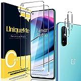UniqueMe [2+2 Pezzi Compatibile con OnePlus Nord CE 5G Pellicola Protettiva Vetro Temperato + Pellicola Fotocamera Compatibile con OnePlus Nord CE 5G [Easy to Install] [Bubble-Free]