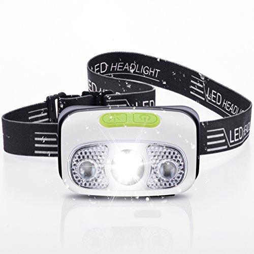 LEEQin Linterna Frontal de Cabeza 4 Modos USB Faros Delanteros LED Recargables CREE Faro Perfecto para Correr de Noche, Andar en Bicicleta, Pescar, Caminar, Acampar, Leer, Caminar