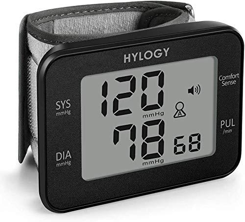 HYLOGY Misuratore di Pressione da Polso Digitale, Sfigmomanometro da Polso e Pulsazione Rilevazione Automatica, Grande Schermo LCD, 180 Posizioni di Memoria