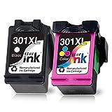 Starink Cartuchos de Impresora remanufacturados compatibles para HP 301 301XL Multipack para HP DeskJet 1000 1050 1050A 2000 2050 2050A 2510 2540 3000 3010 3050 3050A 3510 Envy 4507 5530 2620 4630