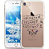 Funda iPhone 6,Funda iPhone 6S,Funda Silicona Gel Carcasa Ultra Delgado Flexible Tpu Goma Silicona Protector Flexible Cover Case Estuche Protective Caso para iPhone 6/6S,Cartas Luminosas de Navidad