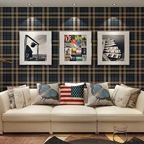 FAFC Escocesa de tartán del Papel Pintado, Papel Pintado de Azul a Cuadros Dormitorio Dormitorio salón Fondo del Papel Pintado de los niños