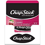 ChapStick Classic Cherry Lip Balm Tubes for Lip Care - 0.15 Oz (Pack of 12)