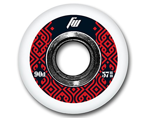 FreeWheeling 4 Stück Inliner Skate/Skateboard Rollen Aggressive 57mm Schwarz-Rot | 1117576