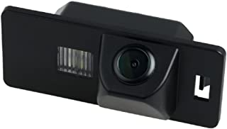 Misayaee Rear View Back Up Reverse Parking Camera in License Plate Lighting Night Version (NTSC) for A1 A3 A4 (B6/B7/B8) A5 A6 TT Q5 Q7 RS4 for VW Passat R36 (Model B= Screw connector Style)