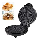 Heart Waffle Maker- Non-stick Waffle Griddle Iron- 5 Heart-shaped Waffles Maker For Waffles, Or Any Breakfast, Lunch, And Snacks