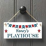 Modtory Personalisierbares Spielhaus-Schild für Jungen, Spielhaus-Geschenk