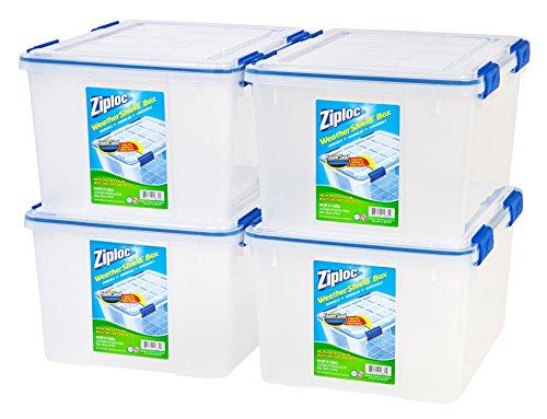 IRIS USA Inc WSB-SD Ziploc WeatherShield Storage Box 44 Quart Clear