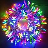 Tcamp Multi-Color Outdoor String Lights 66FT 200 LED Garland String Fairy Light...