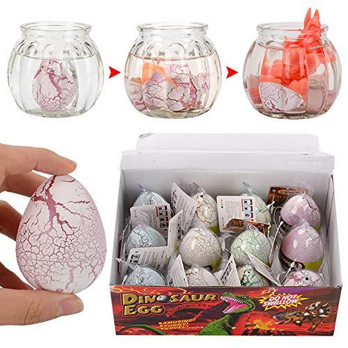 Raymonj Huevos de Dinosaurio de incubación mágica Que Crecen en el Agua Favores de Fiesta educativa de Juguete de Dinosaurio para Mascotas