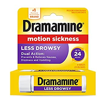 Dramamine Motion Sickness Less Drowsy Travel Vial 8 Count