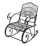 Cocoarm Schaukelstuhl Eisen Stuhl Relaxstuhl Metallstuhl Gartenstuhl Eisenstuhl Schaukelstuhl Schwingsessel f¨¹r Zuhause Garten und B¨¹ro 97 * 88 * 59cm