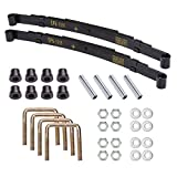 10L0L Heavy Duty Rear 4-Leaf Spring Kit with Bushings & Sleeves for EZGO TXT Golf Cart 199...
