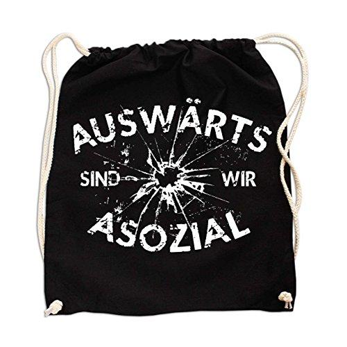 Rucksack Auswärts sind wir Asozial
