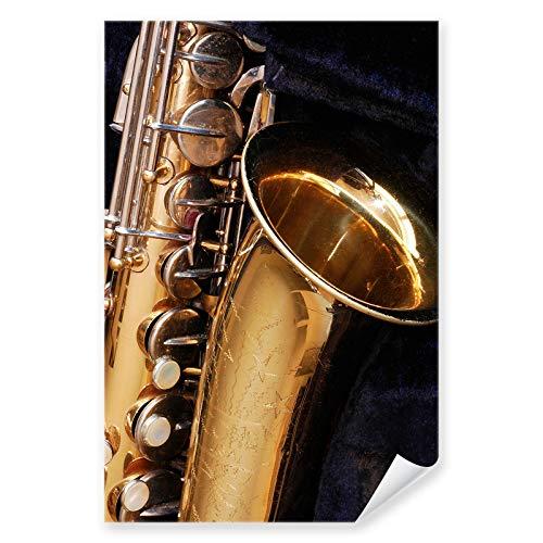 Postereck - 0166 - Saxophon, Musik Jazz Instrument Sound Band Blues - Wandposter Fotoposter Bilder Wandbild Wandbilder - Poster - DIN A2-42,0 cm x 59,4 cm