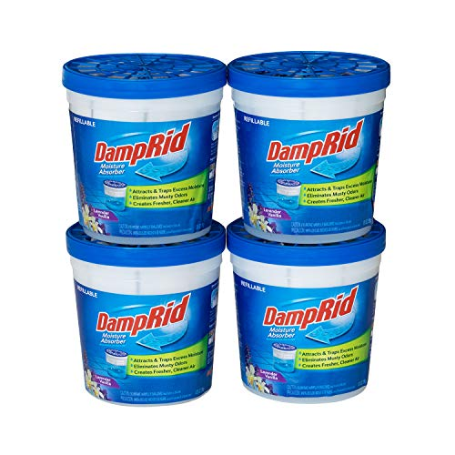 For Sale! DampRid Lavender Vanilla Refillable Absorber Traps Moisture for Fresher, Cleaner Air, 4 Pa...