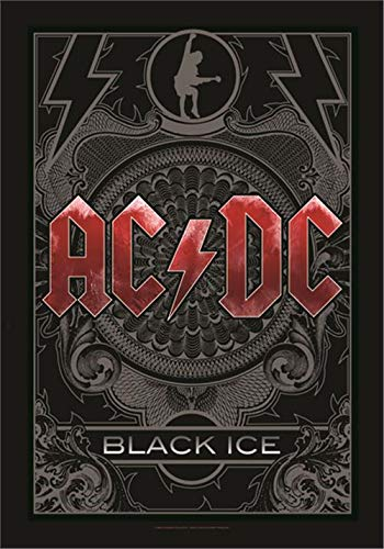 Heart Rock Licensed Flagge AC/DC – Black Ice, Stoff, Mehrfarbig, 110 x 75 x 0,1 cm