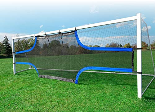 STRIKR Top Bins – Soccer Target Wall Net for Goal - Pro Solo Practice Training Equipment - Improve Kick, Agility, Shooting Drill Skills and Accuracy - Full Size 24 ft x 8 Goal and Youth Training