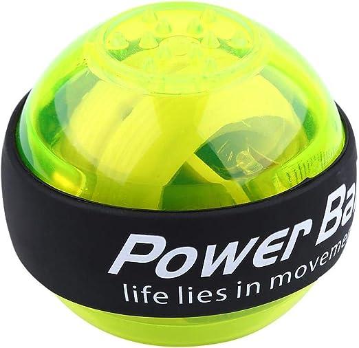 ZTKBG Entrenador de mu/ñecas Gyro Ball Rotator Gyro Ball Brazo Brazo Pr/áctica Tipo pl/ástico Luz LED