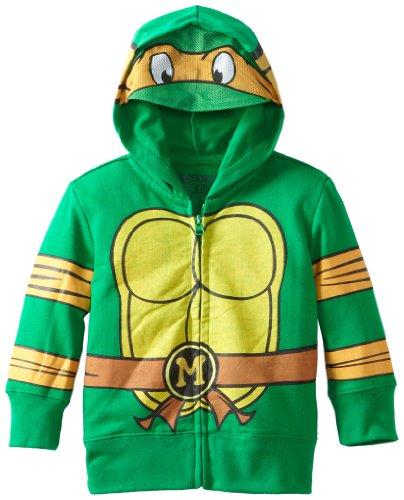 Teenage Mutant Ninja Turtles Boys' Toddler Costume Hoodie, Green, 3T