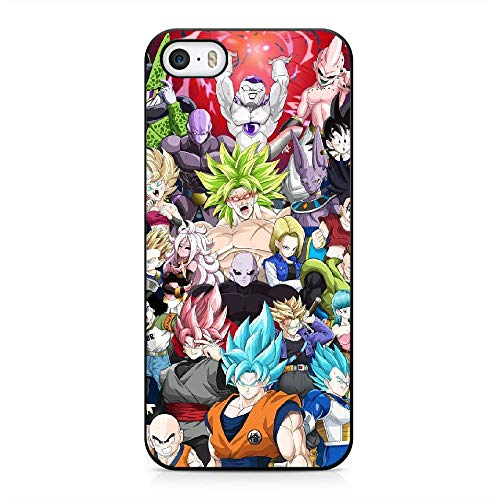 RO&CO Cover iPhone 5 / iPhone 5S / iPhone SE Dragon Ball Son Goku Custodia Protettiva in Silicone Nero Soft Touch E-054