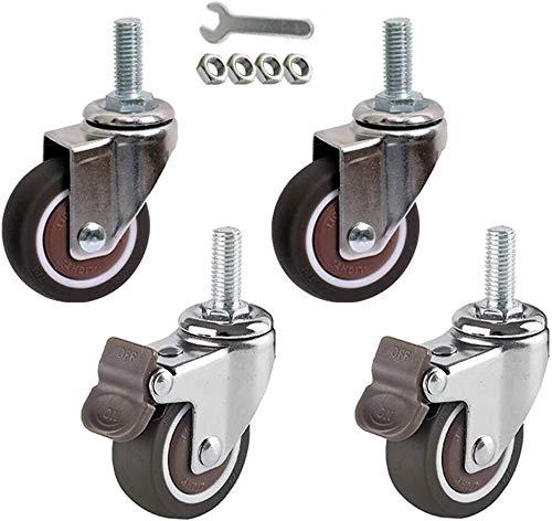"Set of 4 Scaffolding Swivel Casters 8/"" x 2/"" Polyurethane 1100LBS Industrial"