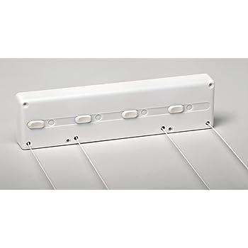 SECATOT Tendedero, Automático pared Blanco, 4 cuerdas