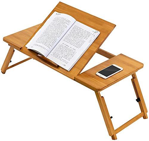 wyingj Escritorio de madera para ordenador portátil, plegable, plegable, con ajuste de altura de 4 capas, mini escritorio para el hogar, utilizado para aprender lectura y juegos