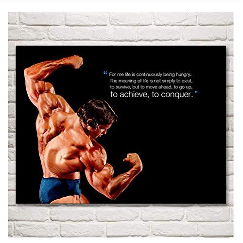 Suuyar Bodybuilder Arnold Schwarzenegger Art Poster und Drucke Malerei Home Decor Bilder Für Wohnzimmer Drucken auf Leinwand-60x80cm No Frame