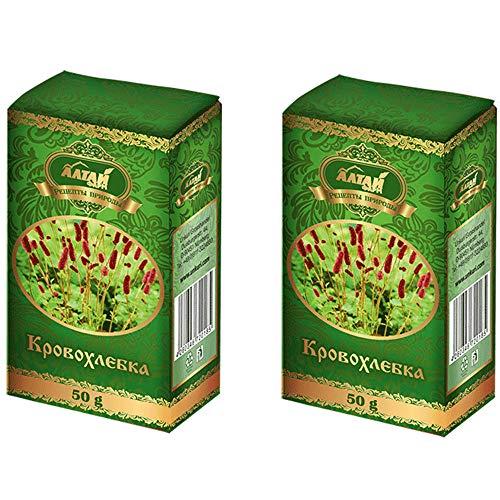 Großer Wiesenknopf Tee 2er Pack (2x50g) Altai Kräuter Teegetränk Kräutertee кровохлёбка