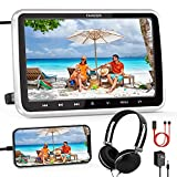 """FANGOR Car DVD Player with HDMI Input/Cable 1080P Video Support Headrest Mount Headphone Car/Wall Charger(Not Battery Powered) Memory Function Free Regions USB/SD Card Reader (10.5"""")"""