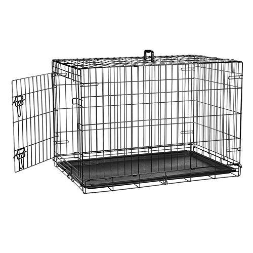 Defacto HundeKäfig 2 Türen faltbar Hundebox Gitterbox Transport Käfig Drahtkäfig S-XXL DF-HB005 (XL)