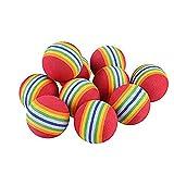 Ciujoy 12 PCS Interaktives Katzenspielzeug Ball für Hunde und Katze, Haustier Spielbälle Weichschaum Regenbogen Sternenhimmel Spielzeuge Bälle für Hundewelpen Kätzchen, Stimulierung des Jagdtriebs