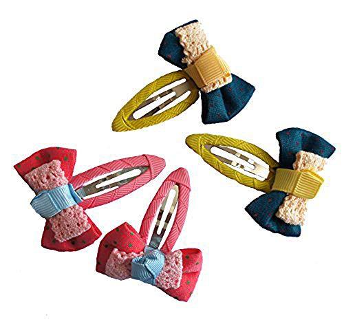 HAND BHC01 beau ruban clips Bow cheveux couleurs assorties Paquet de 2 paires