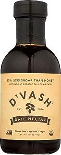 D'vash Organic Date Syrup, Superfood Sugar Substitute Made with 100% Organic Dates, Vegan Gluten Free Liquid Sweetener No ...